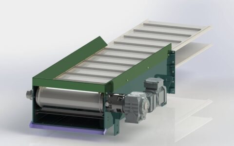 Drive section for modular metal-chips conveyor
